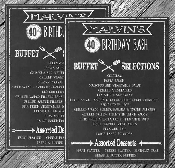 rustic wedding bbq menu