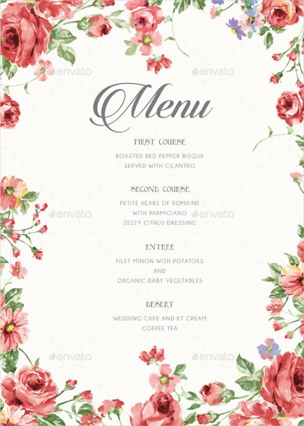 rustic wedding menu card1