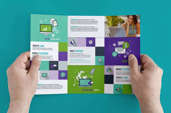 SEO Marketing Trifold Brochure
