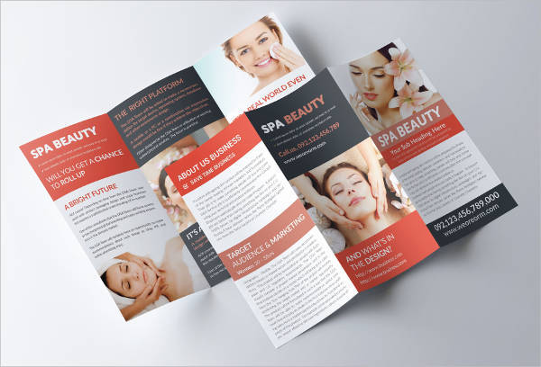 Salon Spa Trifold A4 Brochure