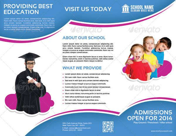 School Promotion Trifold Brochure