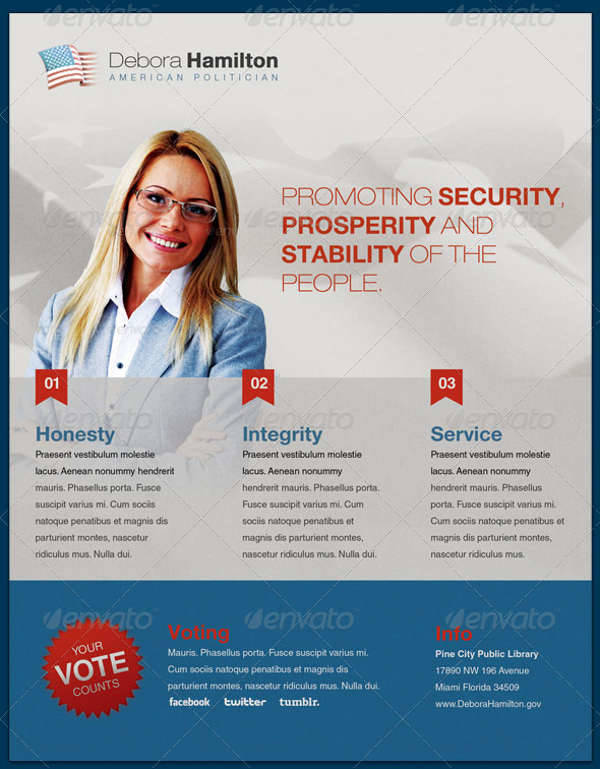 10 political flyer templates printable psd ai vector for Political brochure templates