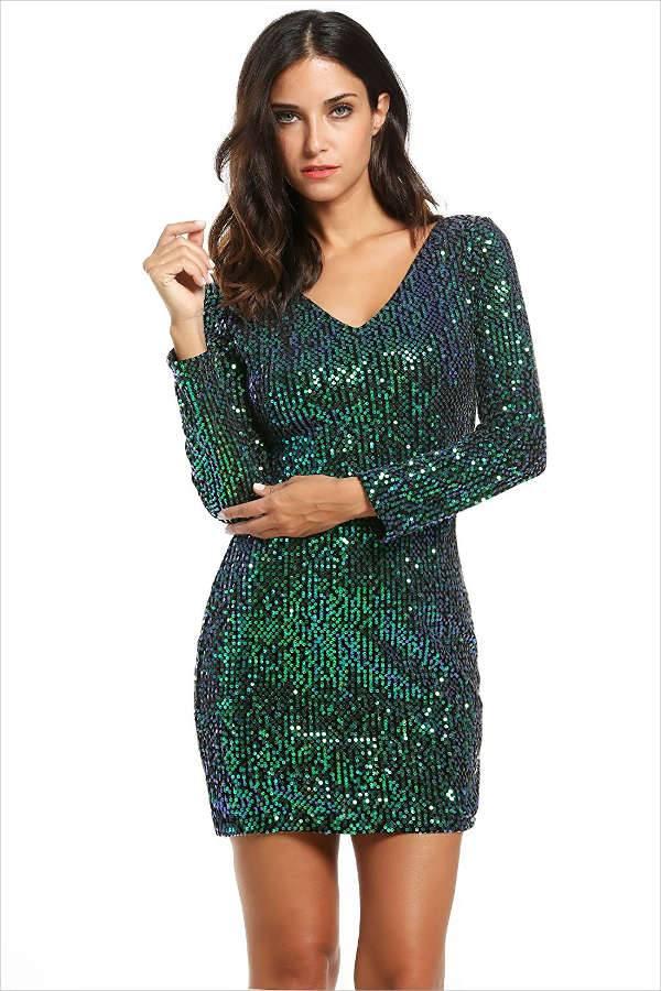 Sequin Green Dress