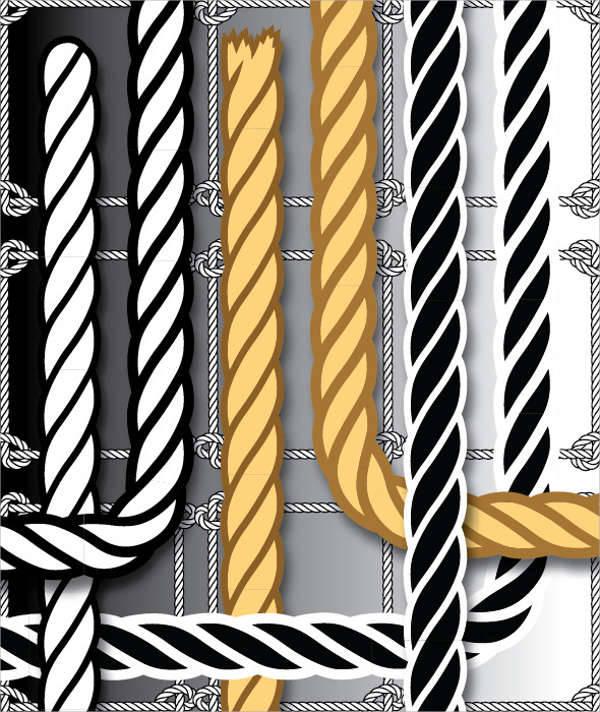 set of rope brushes for illustrator
