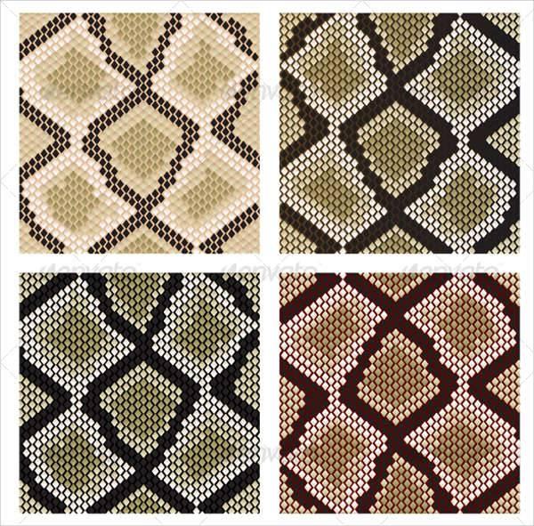 Set of Snake Skin Pattern