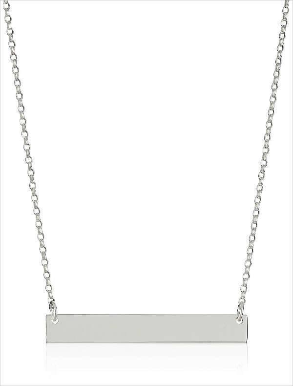 silver bar necklace design