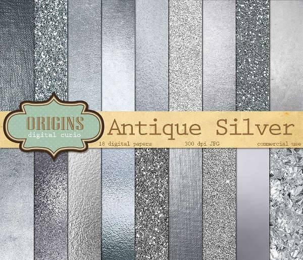 silver digital paper texture