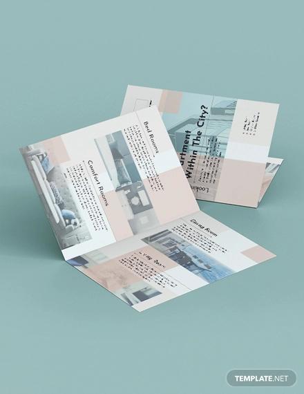 simple apartment bi fold brochure template