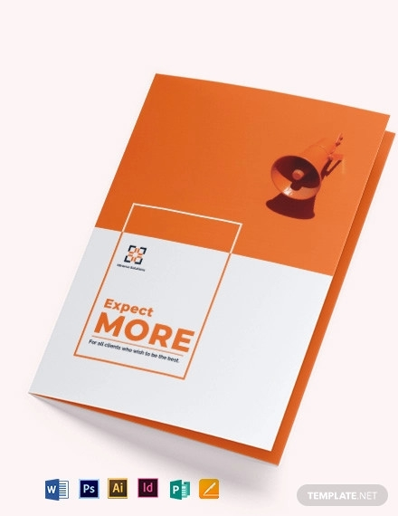 simple company profile bi fold brochure template