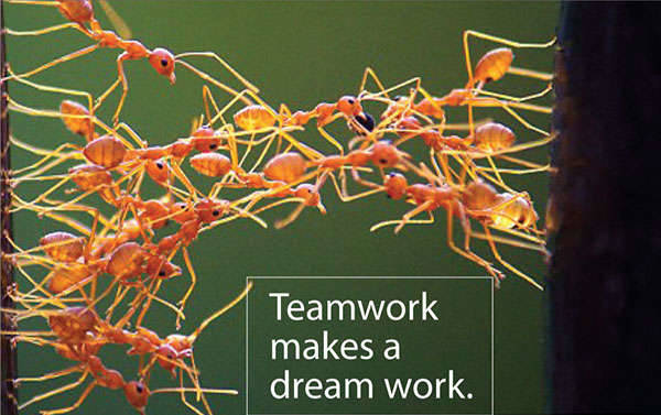 simple motivational teamwork poster
