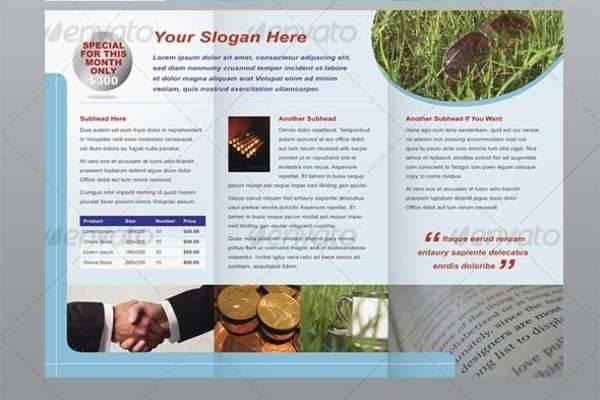 six page modern brochure