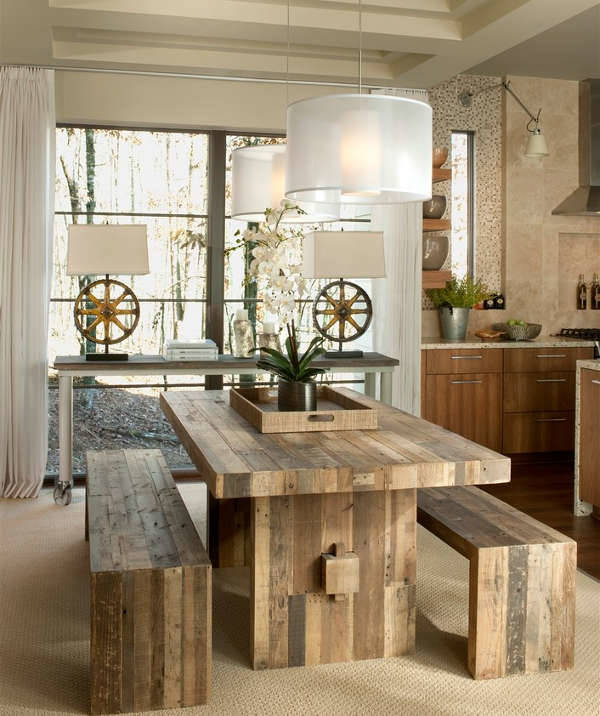small rustic dining table