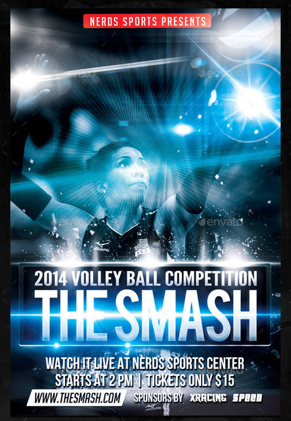 Smash Volleyball Sports Flyer