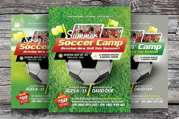 Soccer Sports Camp Flyer