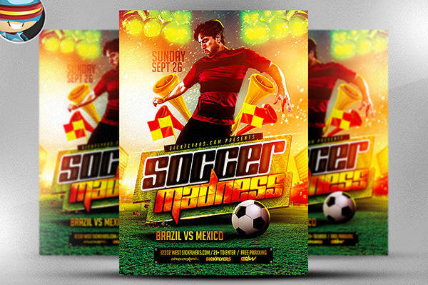 Soccer Sports Flyer Template