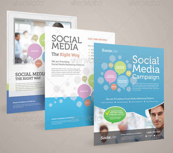 social media marketing roll up banner