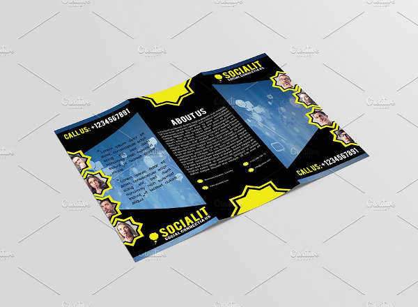 Social Media Marketing Trifold Brochure