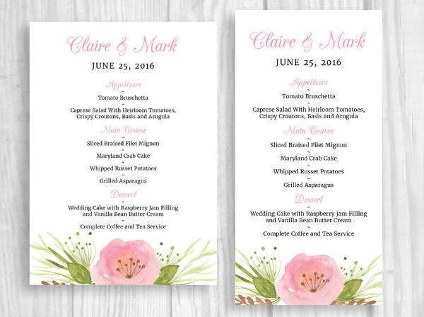 Special Dinner Event Menu