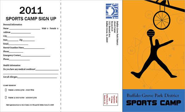 Sport Camp Brochure