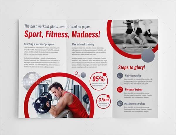 Sport Fitness Trifold Brochure