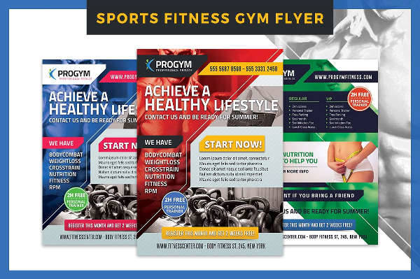 Sports Fitness Gym Flyer