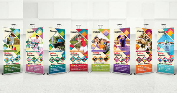 Sports Roll Up Banner