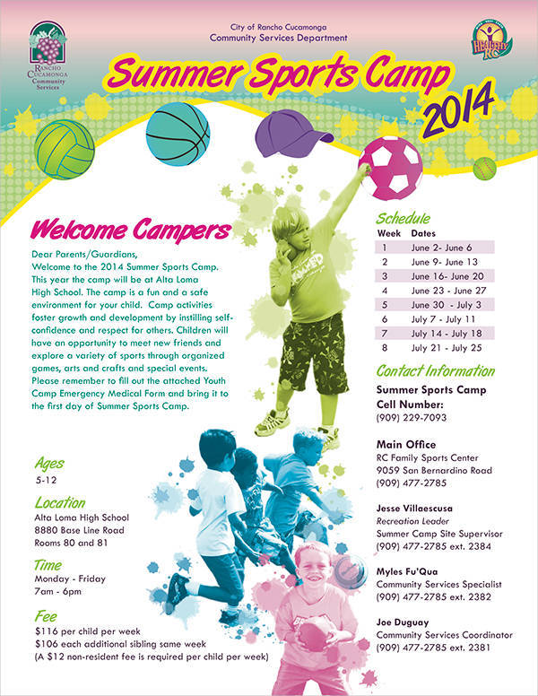 Sports Summer Camp Flyer