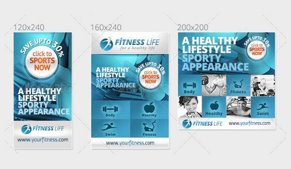 Sports and Fitness Web Banner