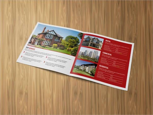 Square Real Estate Bifold Brochure