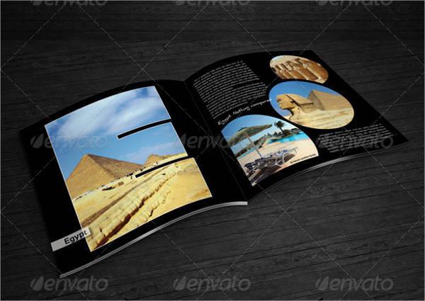 square travel photo album catlog