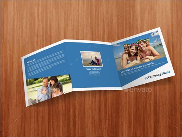 Square Travel Tri-Fold Brochure