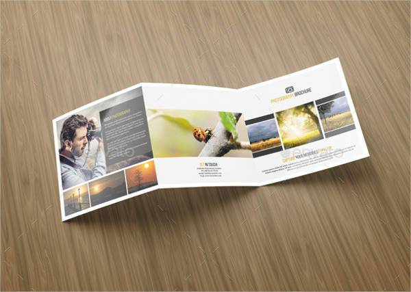 Square Tri-Fold Photography Brochure