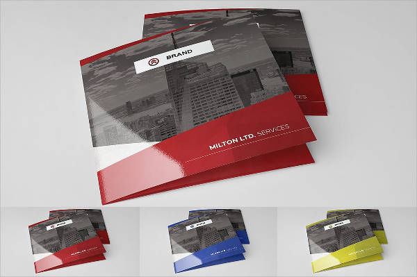 Square Tri-fold Business Brochure