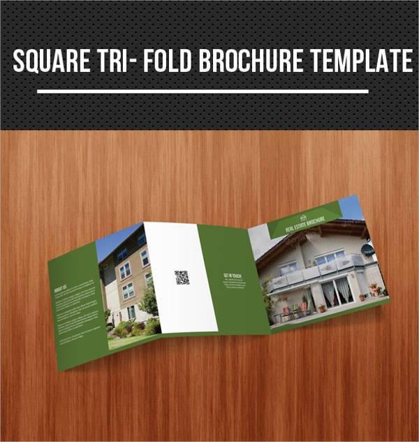 Square Tri-fold Real Estate Brochure