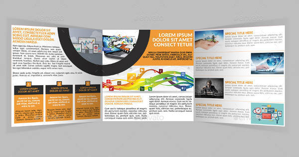 Square Trifold Web Hosting Service Brochure