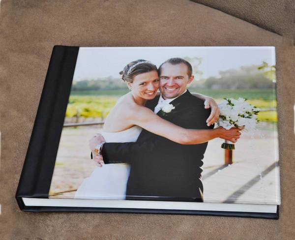 square wedding photo album
