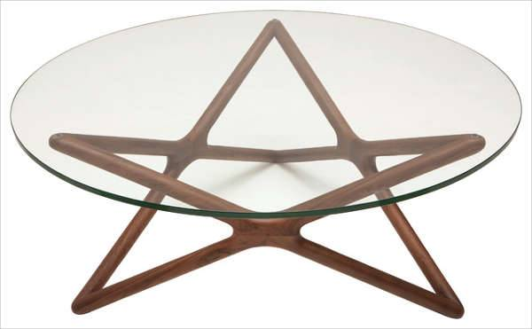 Star Coffee Table in Glass