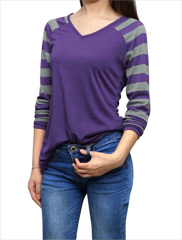striped sleeve t shirt
