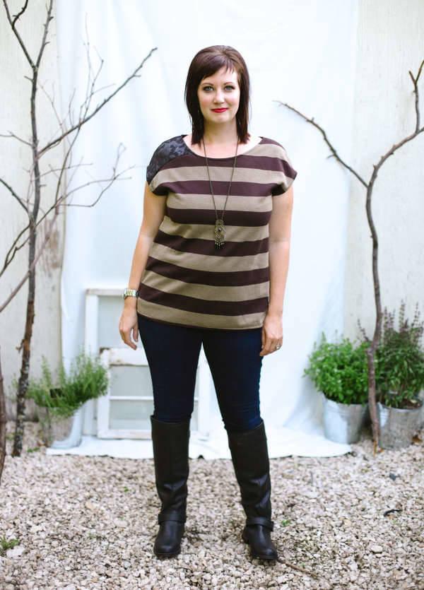 striped t shirt for women