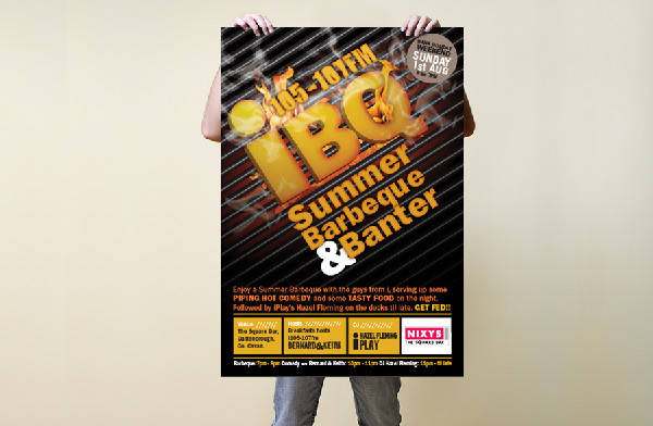 summer bbq event poster
