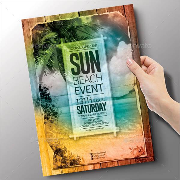 Summer Beach Event Flyer