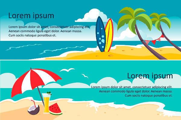 summer beach party banner