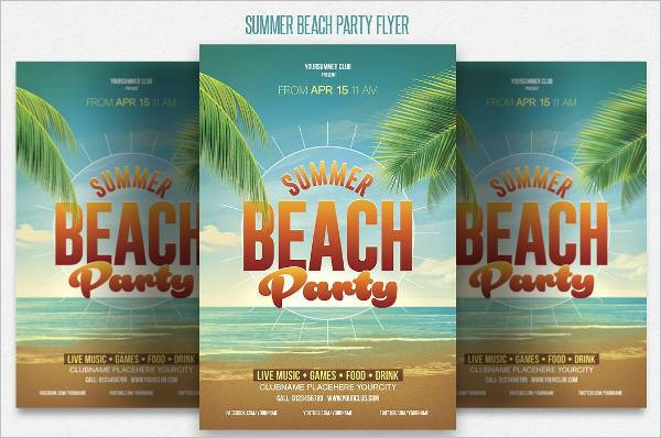 Summer Beach Party Invitation Flyer