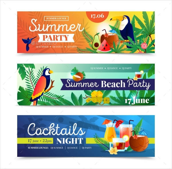 Summer Cocktail Party Banner