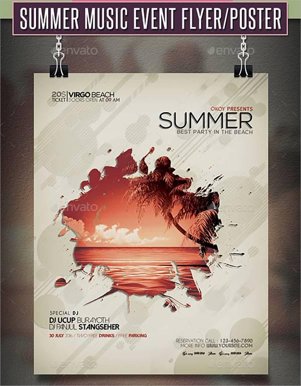 Summer Music Event Flyer
