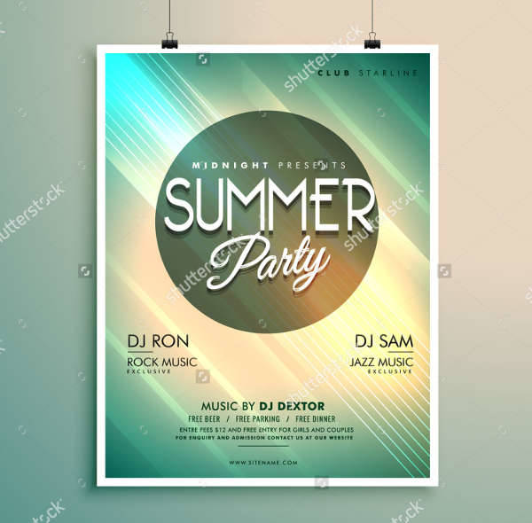 Summer Music Party Flyer