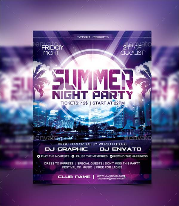 Summer Night Party Flyer