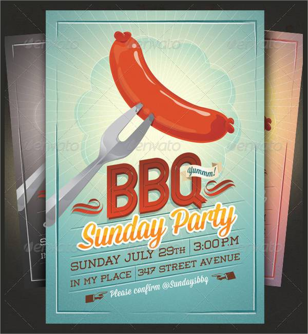 Summer Party BBQ Invitation Flyer