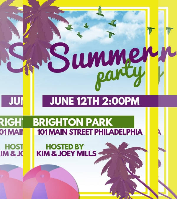 summer party event poster