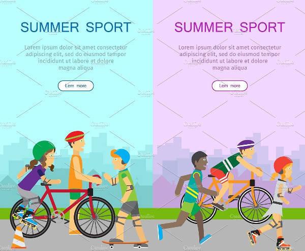 Summer Sports Banner